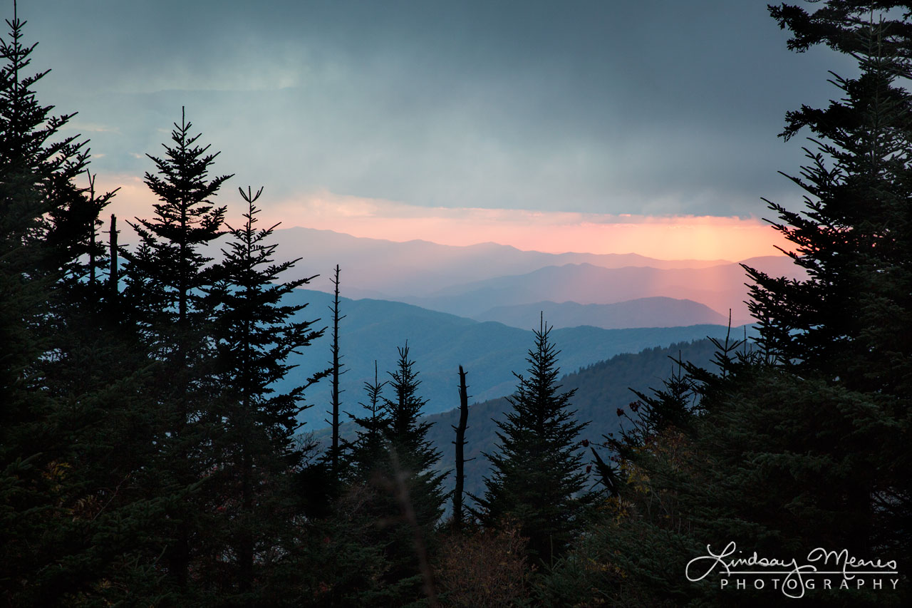 Moody Sunset from Clingman's Dome