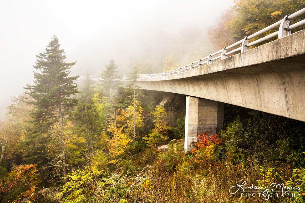 Foggy Linn Cove Viaduct